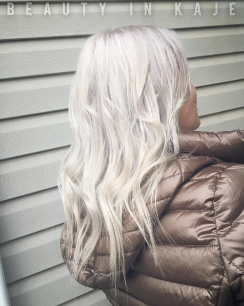 Icy White hairstyle