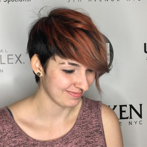 Picture of an industrial and edgy short hairstyle for long faces