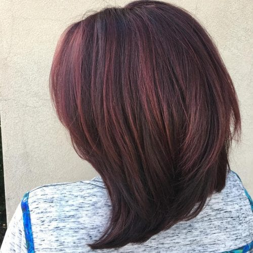 Intense Violet Red hairstyle