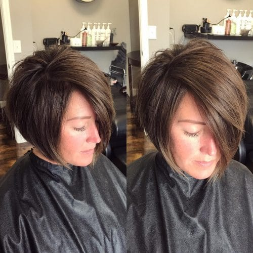 Interchangeable A-Line With Undercut hairstyle