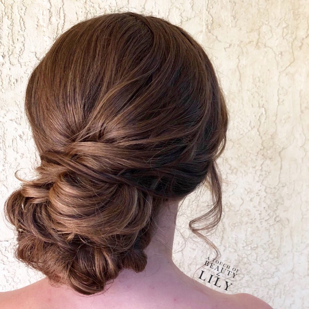 Intricate Low Chignon hairstyle