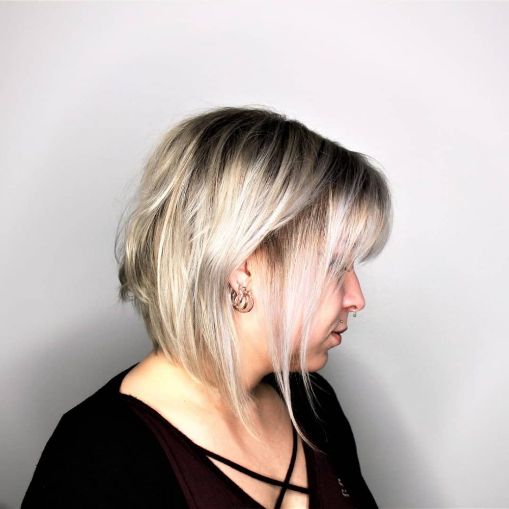 Inverted Messy Bob hairstyle
