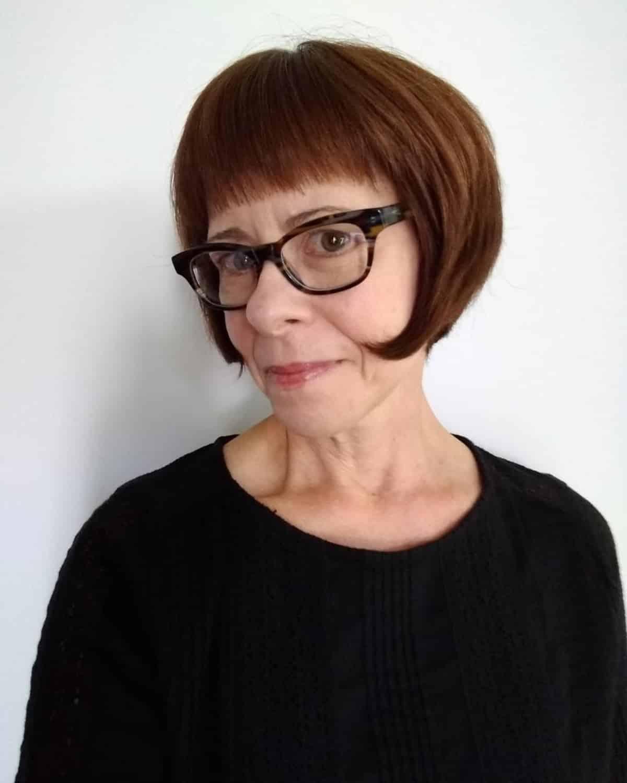 Bob de longitud de mandíbula francesa para mujeres mayores
