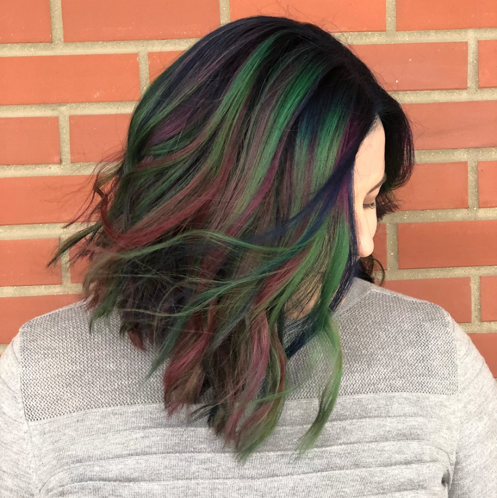 Jewel-Toned Color Melt hairstyle