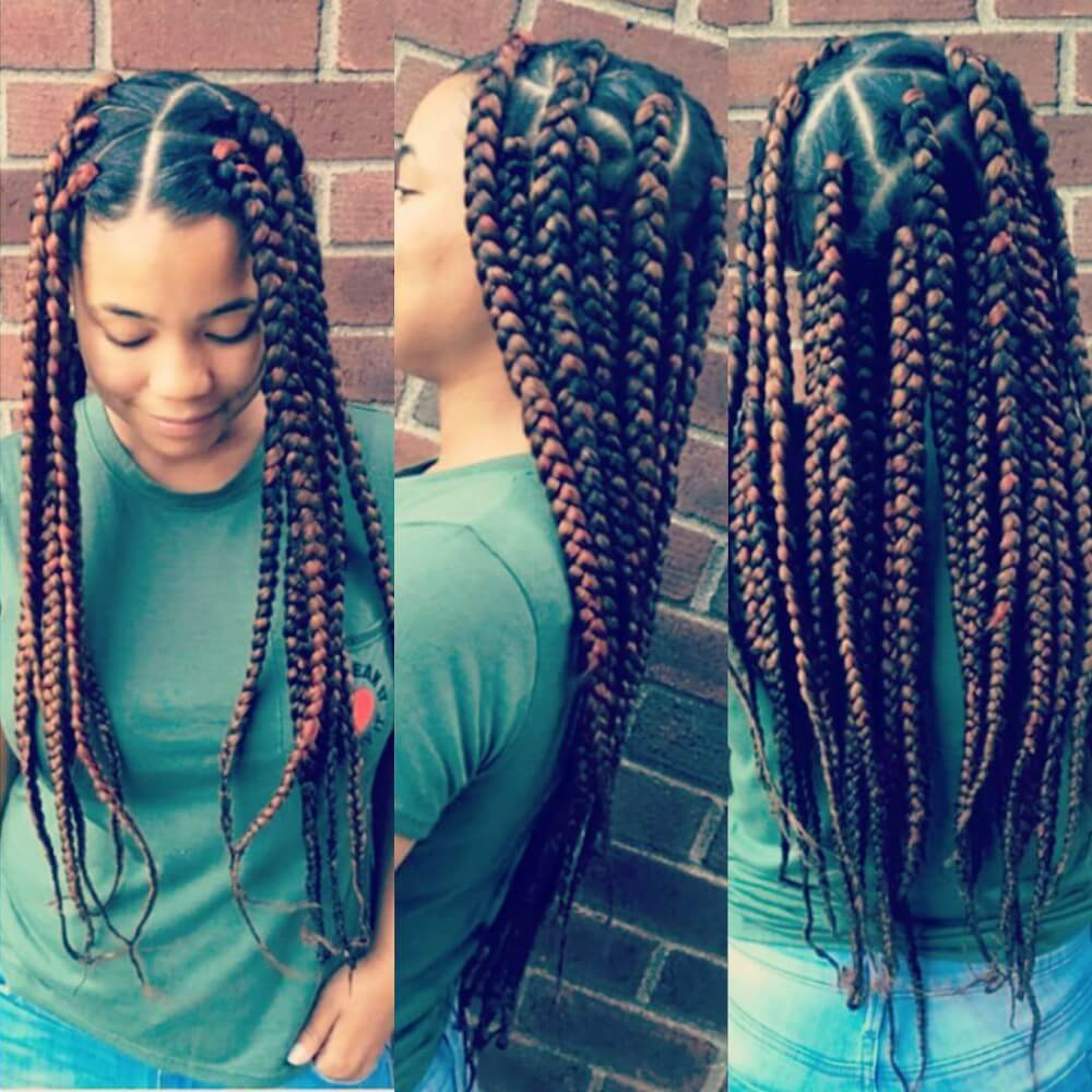 Red Natural Hair Protective Styles