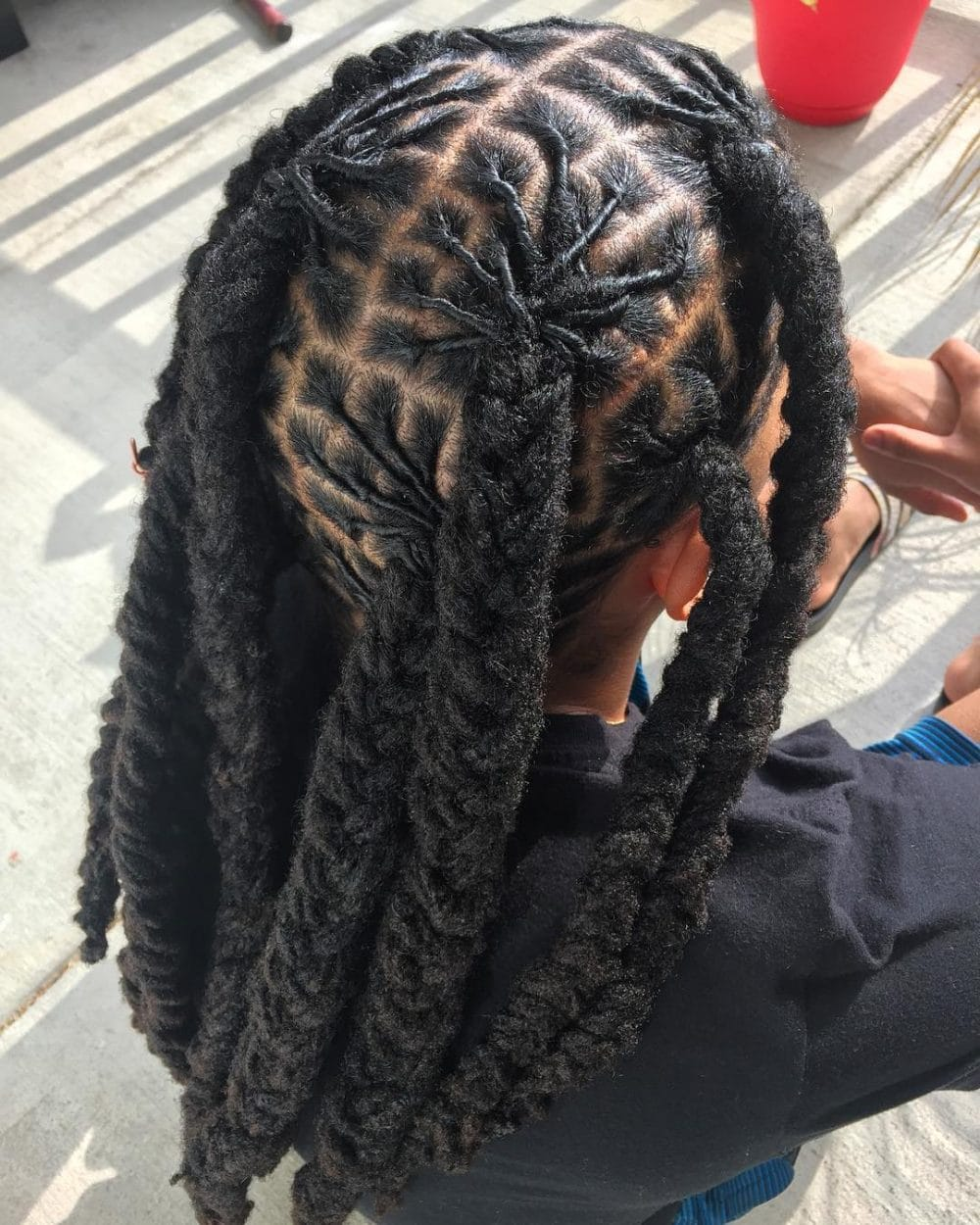 Jumbo Loc Plaits hairstyle