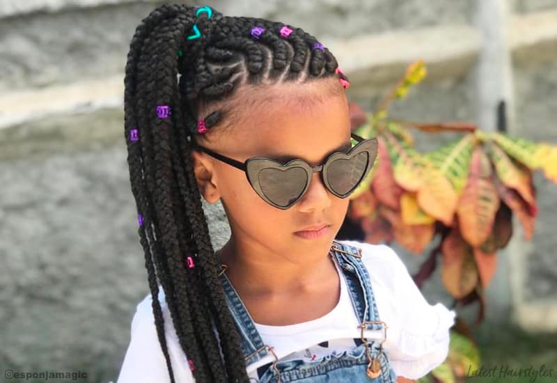 Incredible The 11 Cutest Box Braids For Kids In 2020 Schematic Wiring Diagrams Phreekkolirunnerswayorg