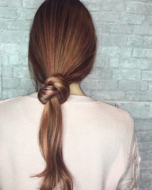 Picture of a cute knot your average ponytail