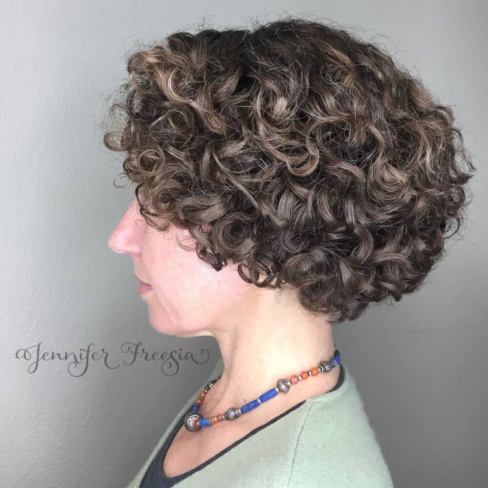 Short Hairstyles For Curly Hair Women popular hairstyle