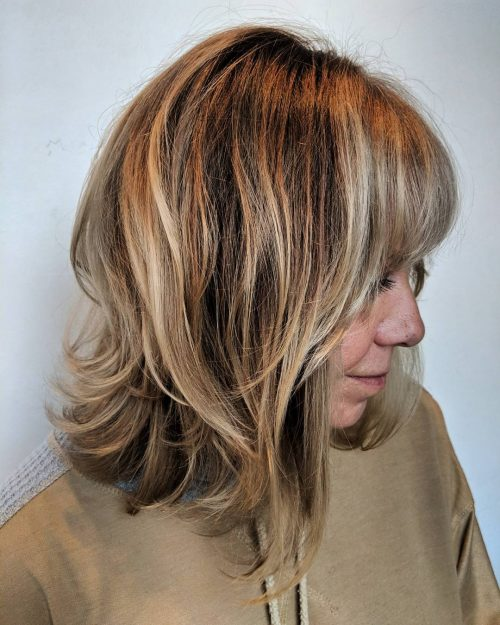Layered Bob with Fringe