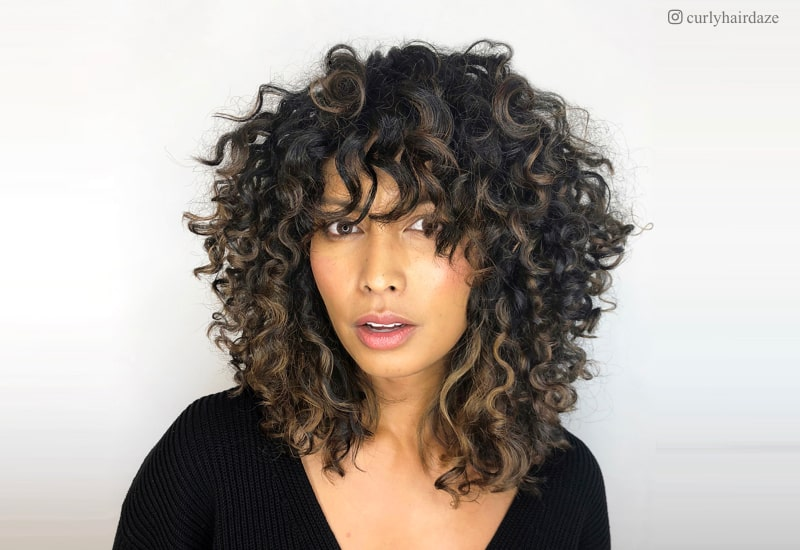 Short Curly Hair With Bangs And Layers 5
