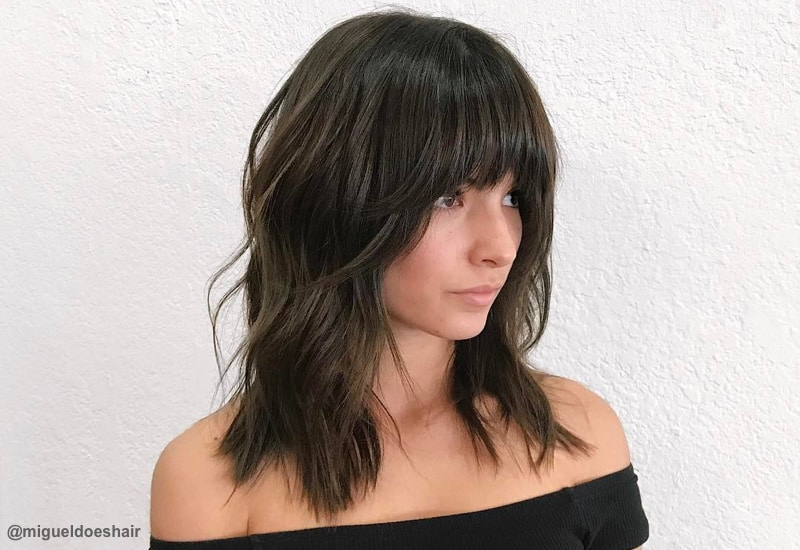 Layered Hairstyles With Bangs 2019 4