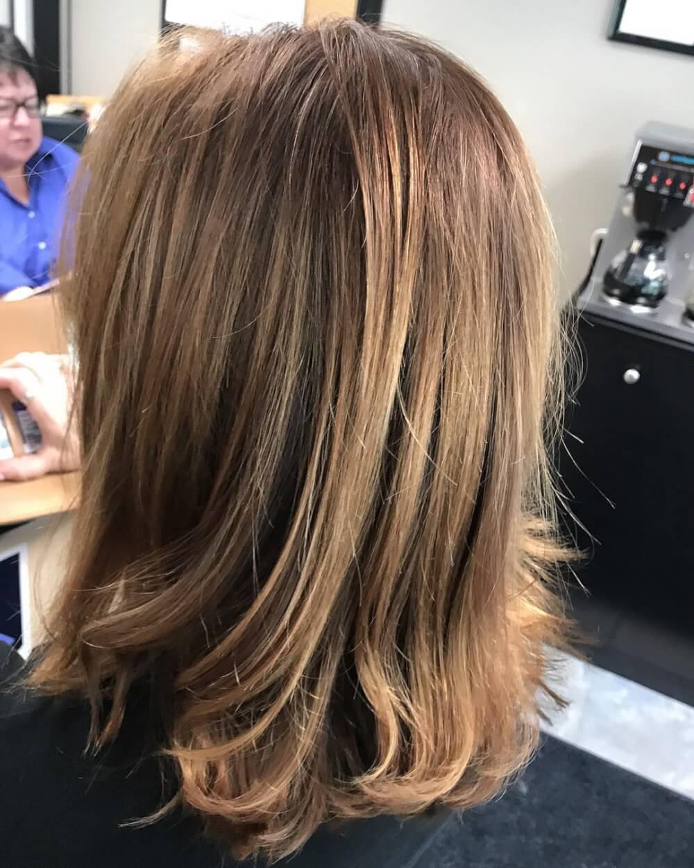 Warm & Layered hairstyle
