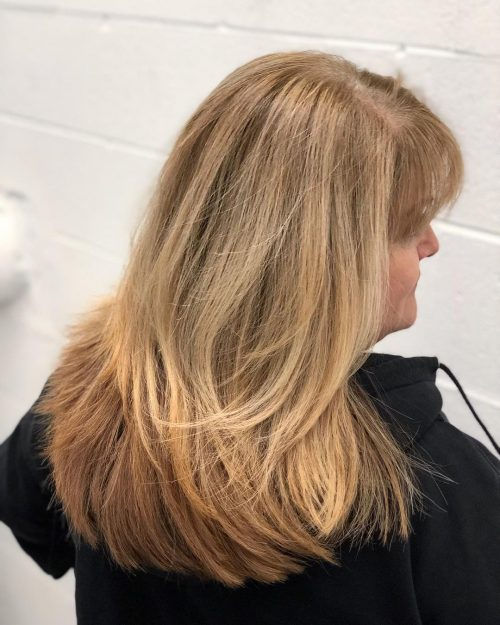 Layered U cut for thick haired women