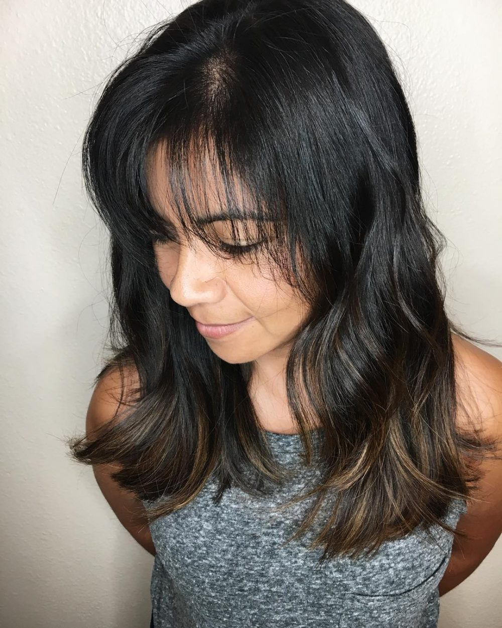 Layers with Side-Swept Fringe hairstyle