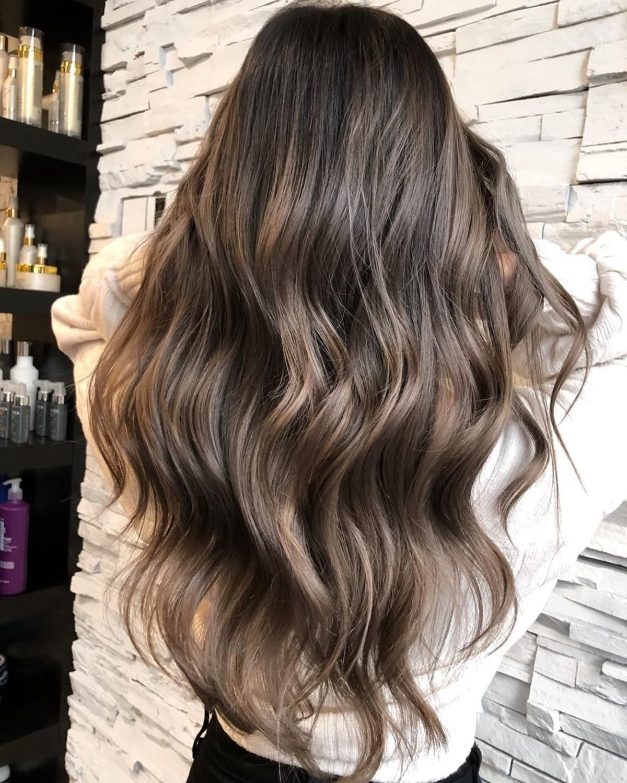 light ash brown on dark hair