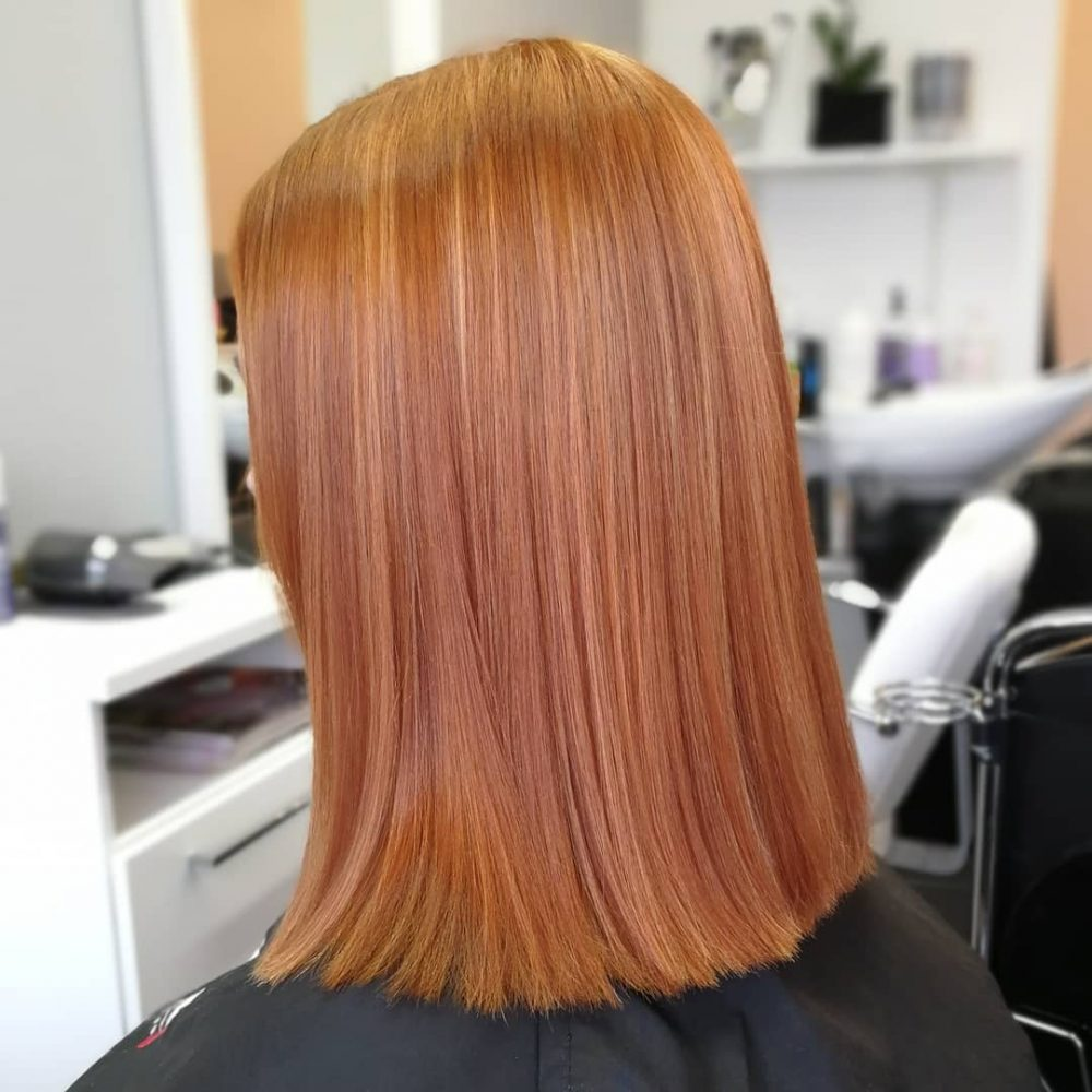 Light Copper with Golden Blonde hairstyle
