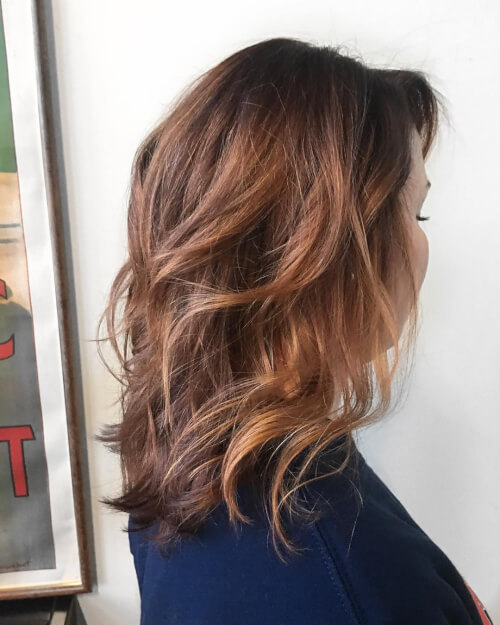 light depth auburn hair color