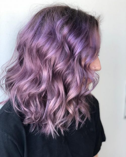 17 Hottest Silver Purple Hair Colors Of 2019