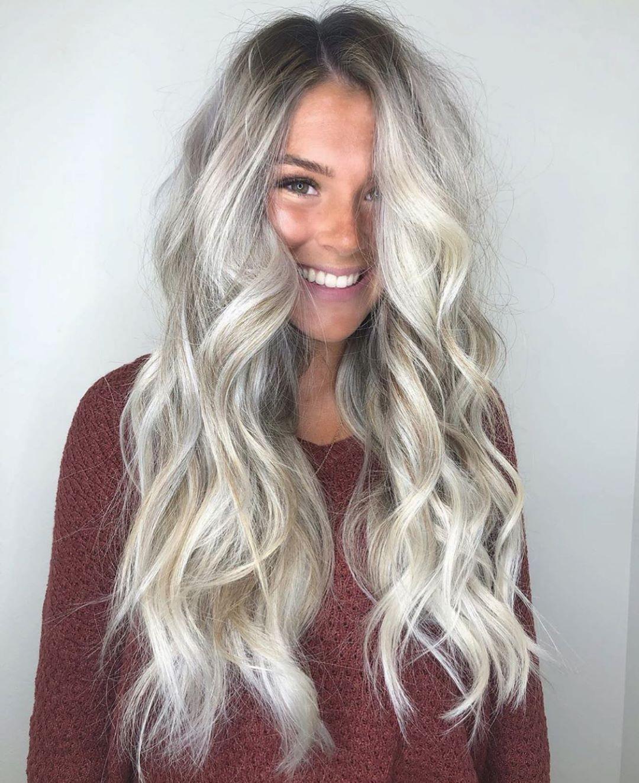 light silver ash blonde hair