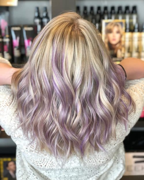 17 Hottest Silver Purple Hair Colors Of