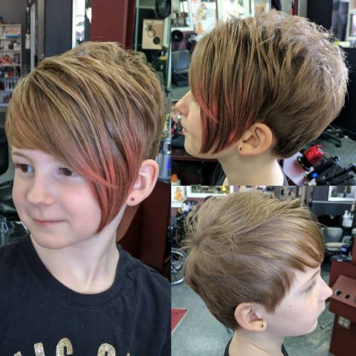 Edgy cut for a little girl