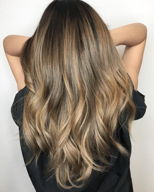 Lived in balayage highlights