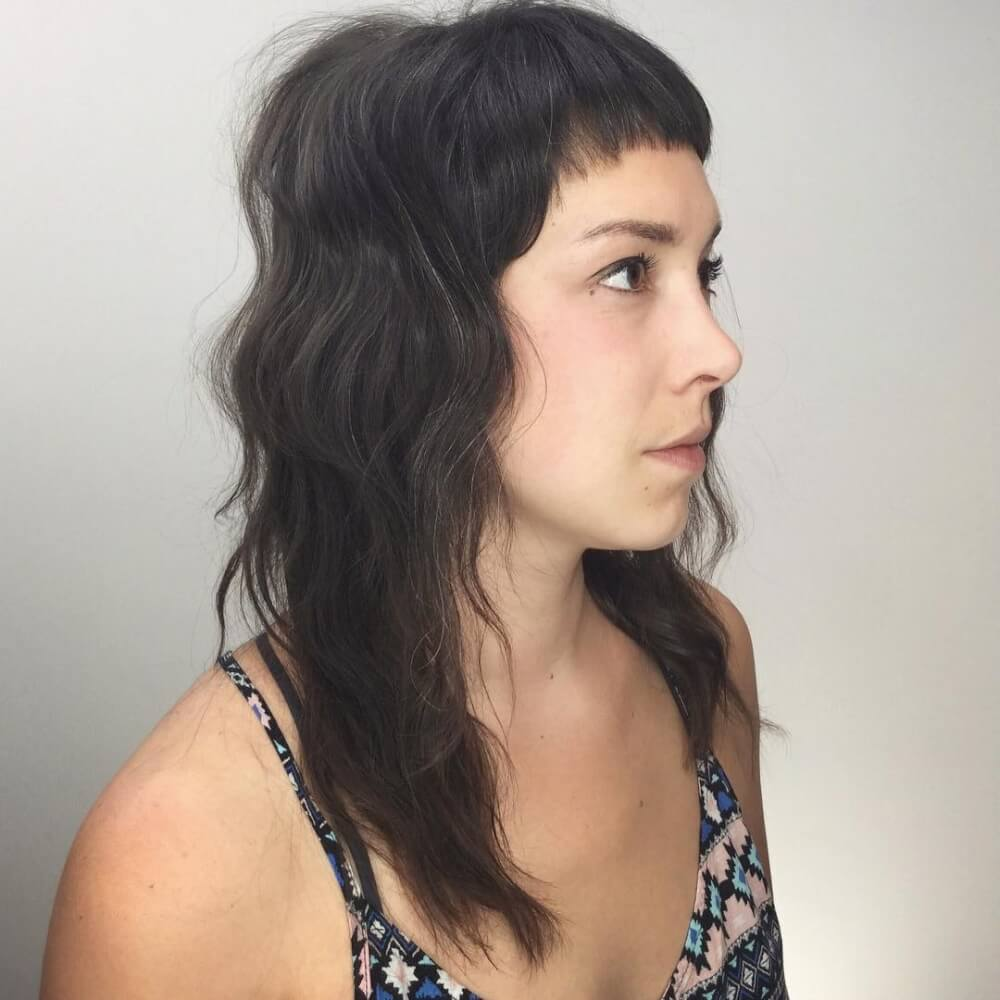 A flattering lived-In long shag hairstyle