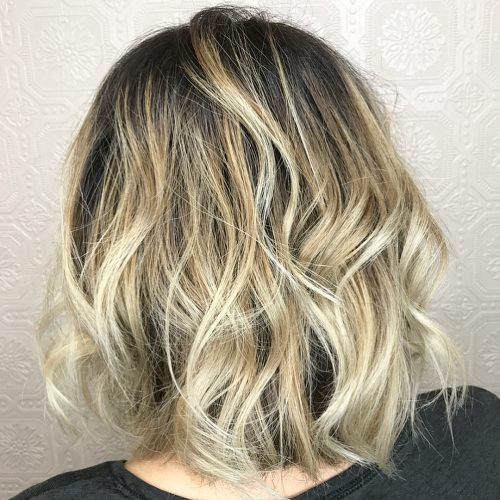 Lived-In Dark Black to Blonde Ombre