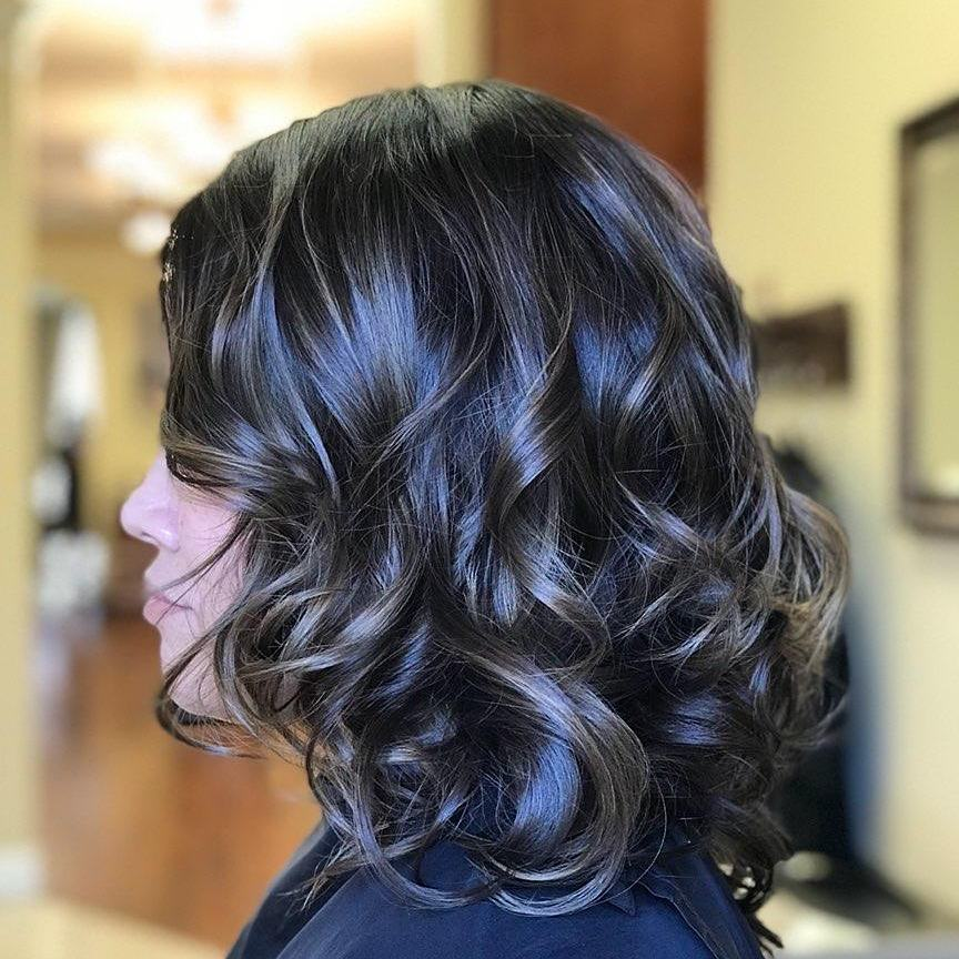 Lob with Soft Balayage hairstyle