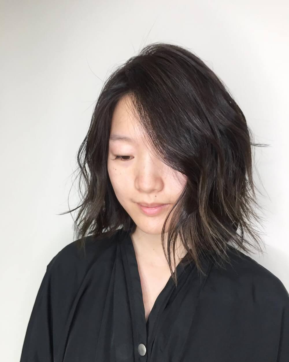 Beachy Lob hairstyle