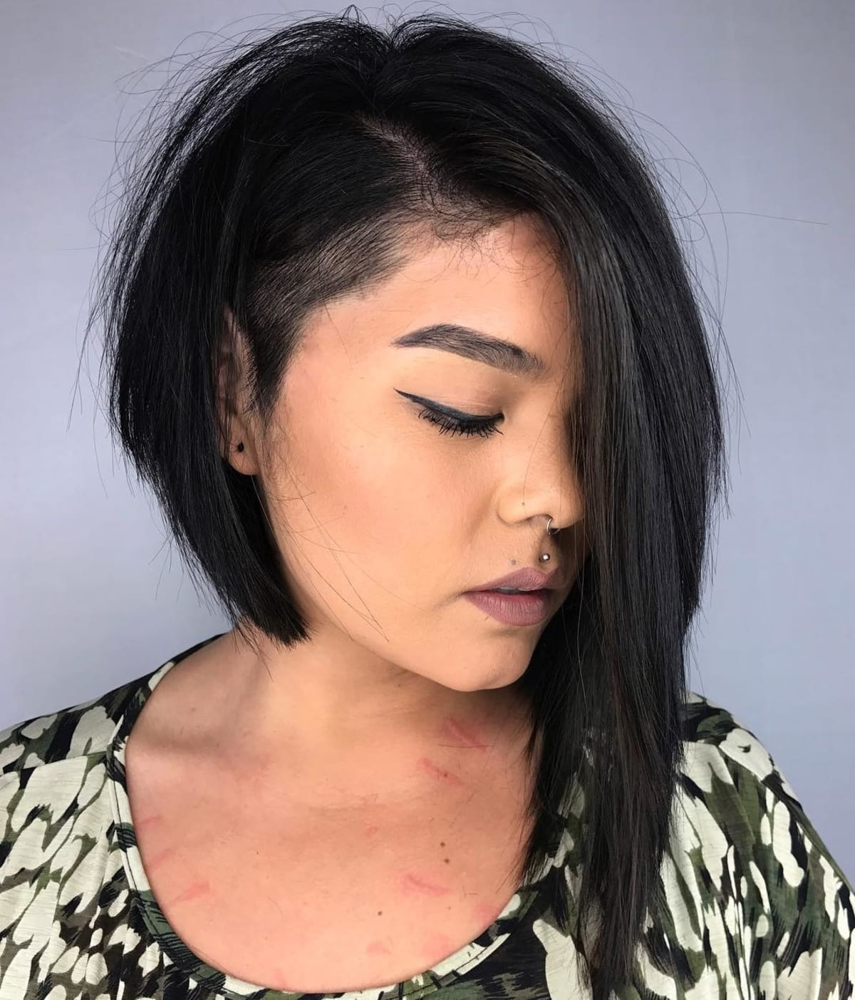 Long Asymmetrical Bob with a Shaved Side