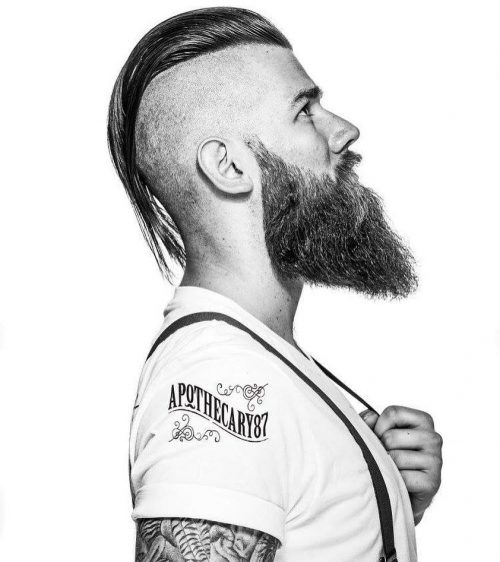 Long Hair With Bald Sides. Undercut by @braidbarbers