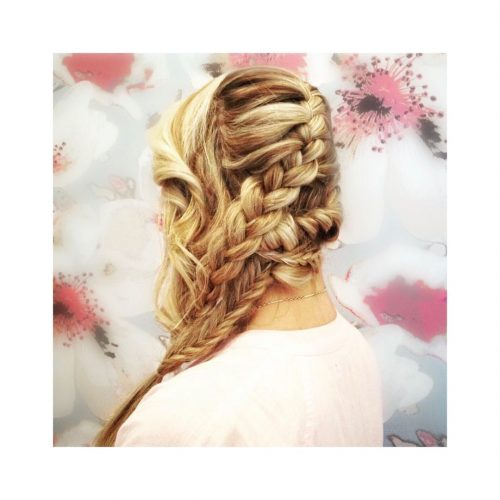 Picture of a long blonde 4 braid twist