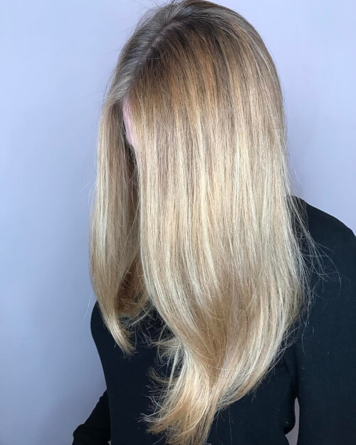 Rooty Blonde Highlights On Brown Hair