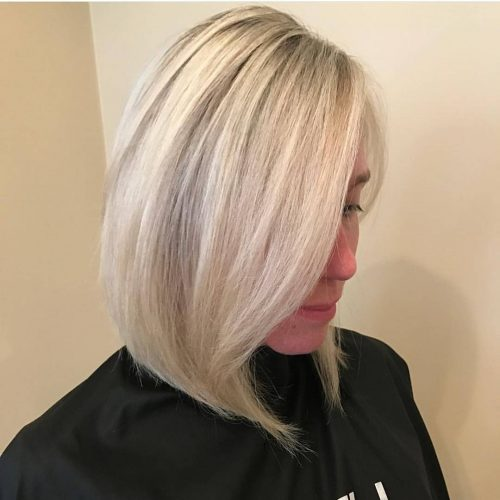 Long bob with blonde lowlights