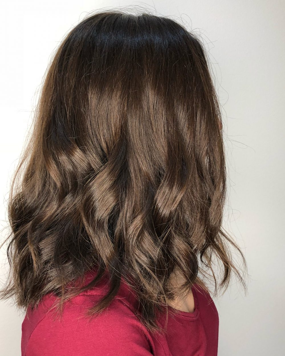A superb chestnut brown colored bob with textured layers