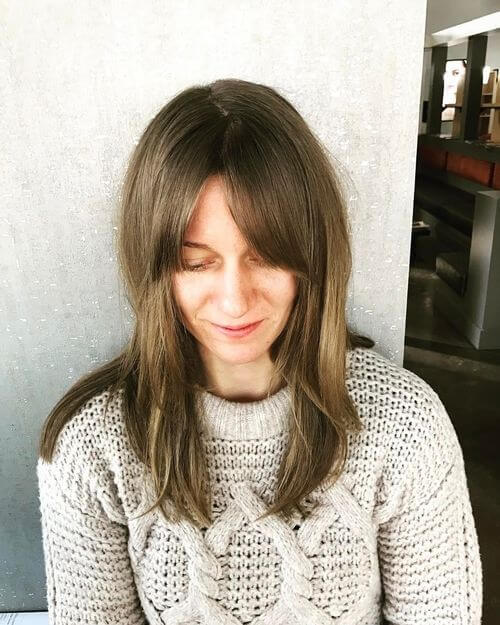 long brown hair for women over 50