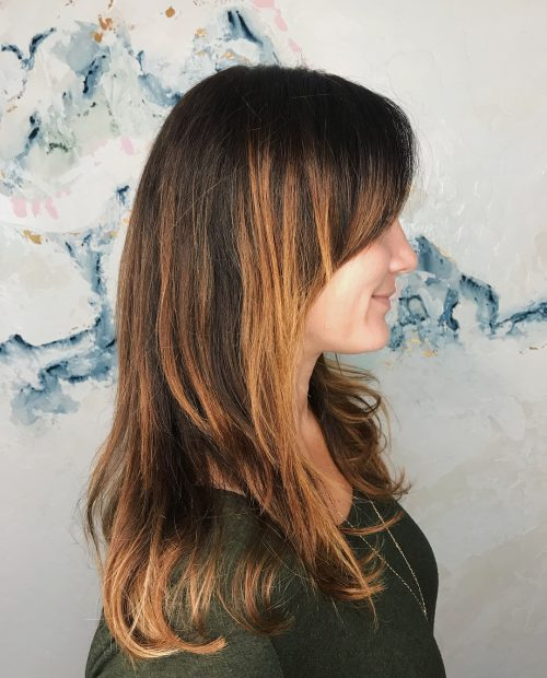 Picture of long caramel highlight layers