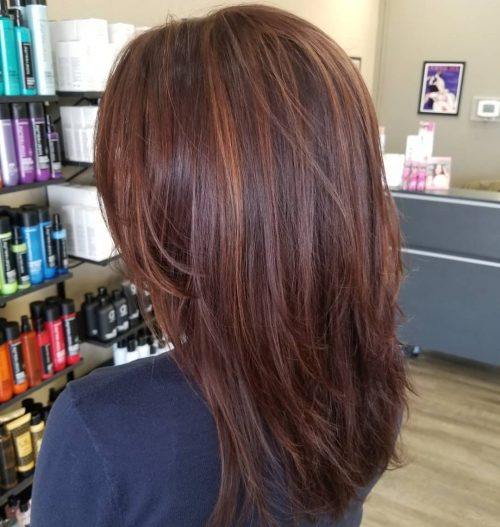 Picture of long dark red layers