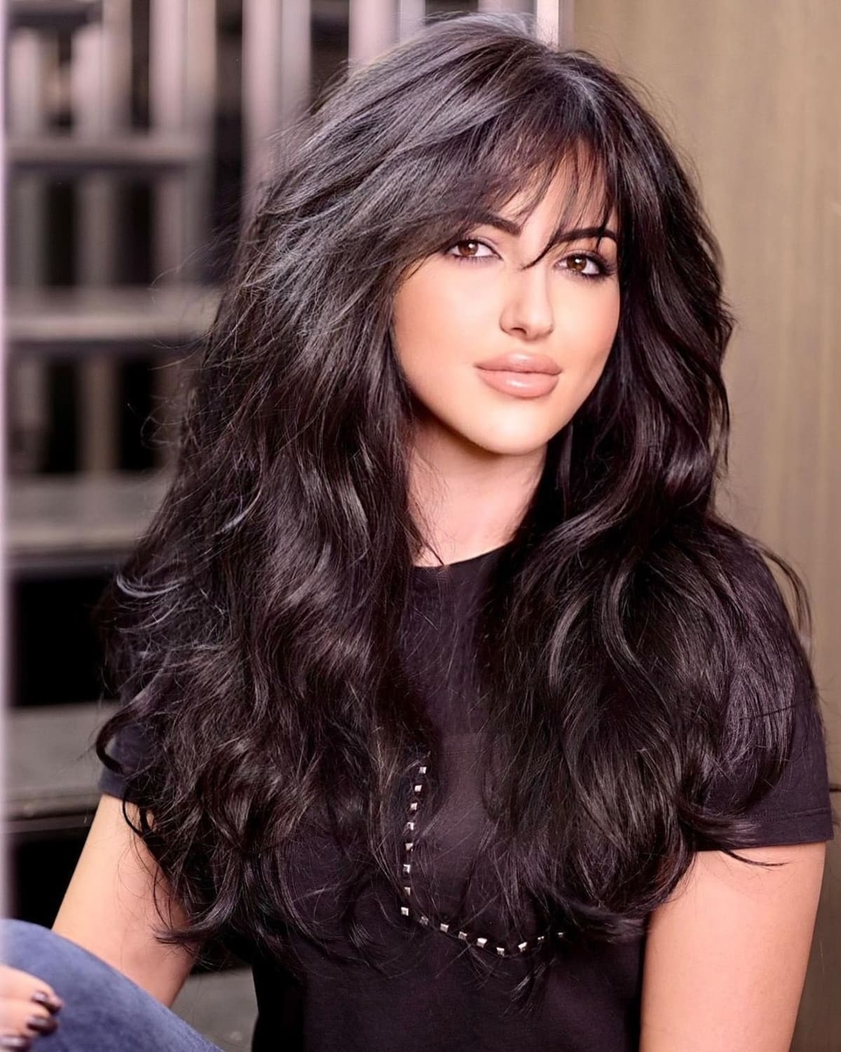 9 Trendiest Long Layered Hair with Bangs for 9