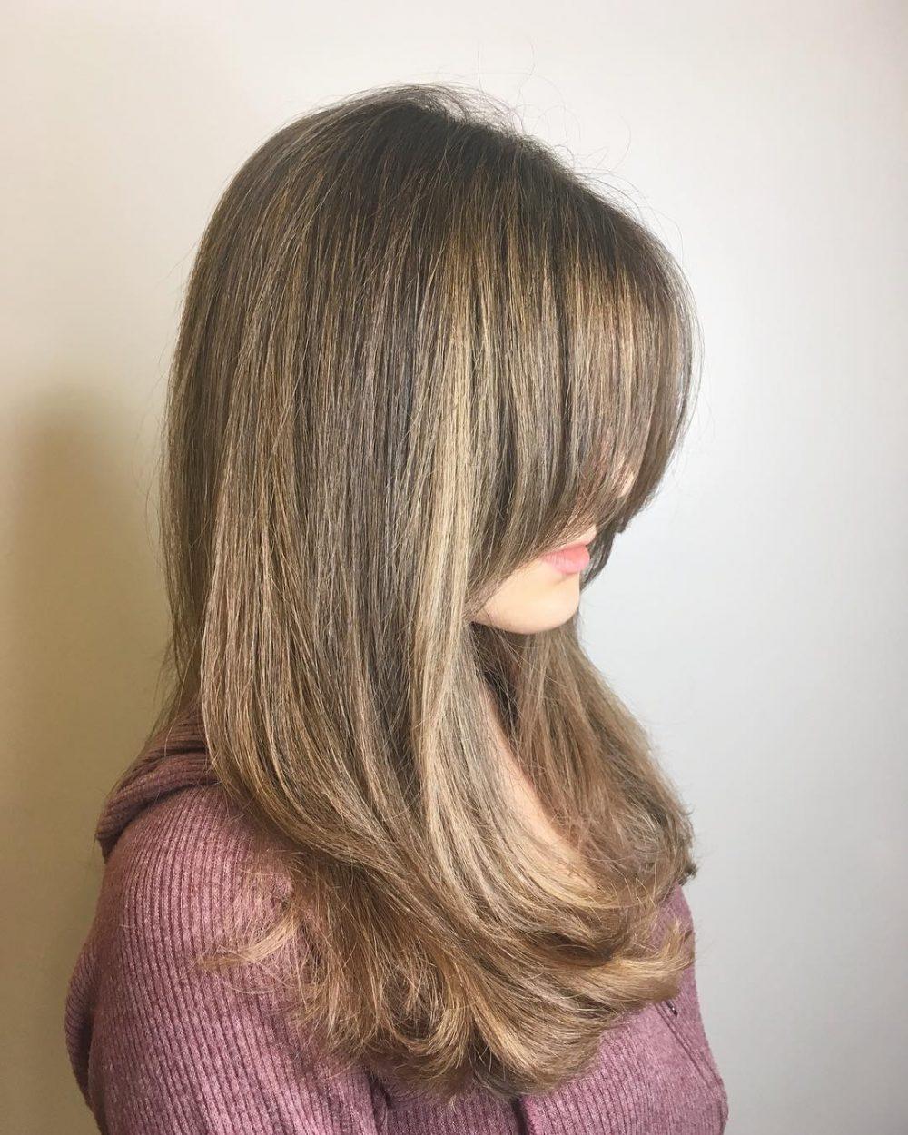 Long Heavy Fringe hairstyle