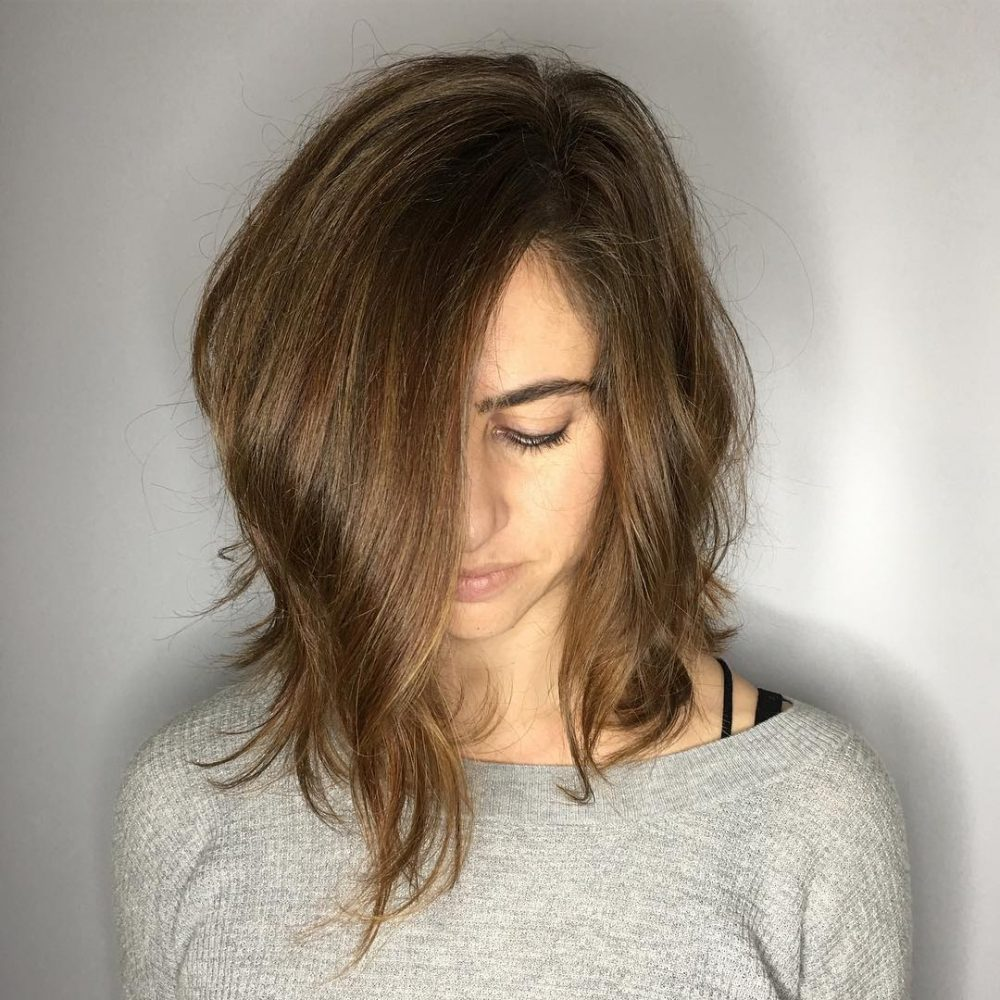 Long Layered A-Line Bob hairstyle