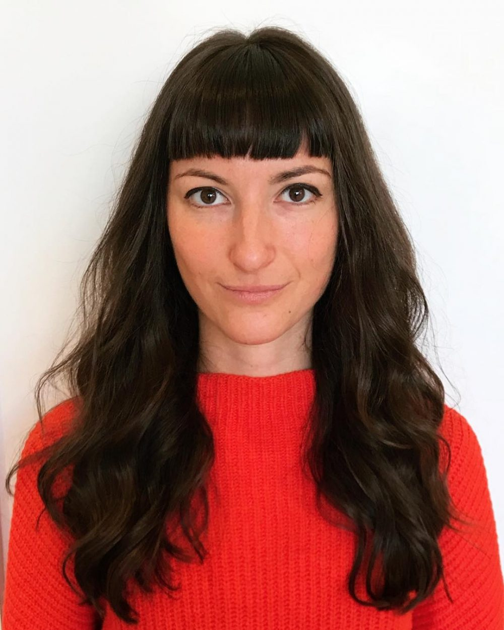 35 flattering long hair with bangs for every face shape in 2019