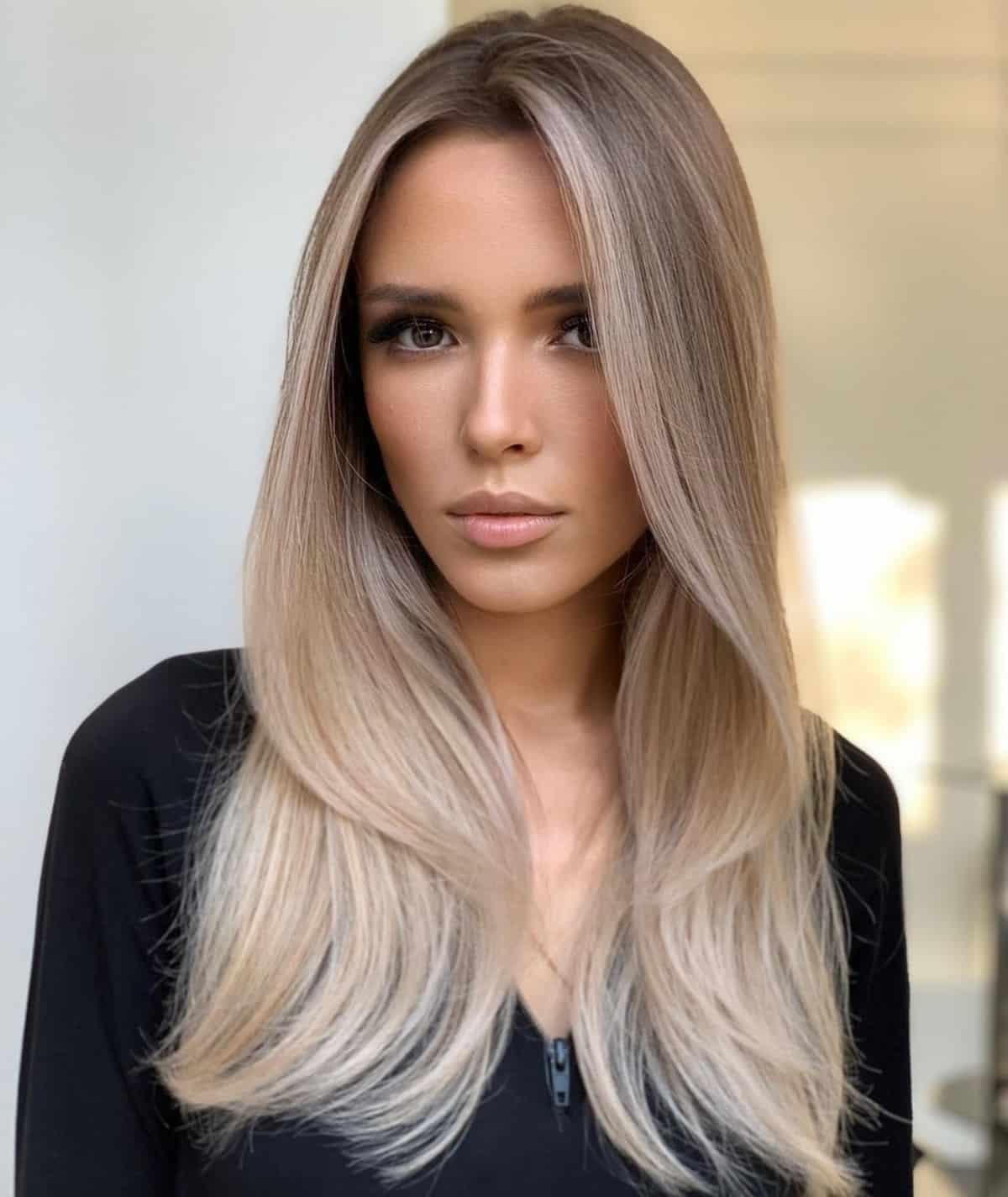 Long length thin hair