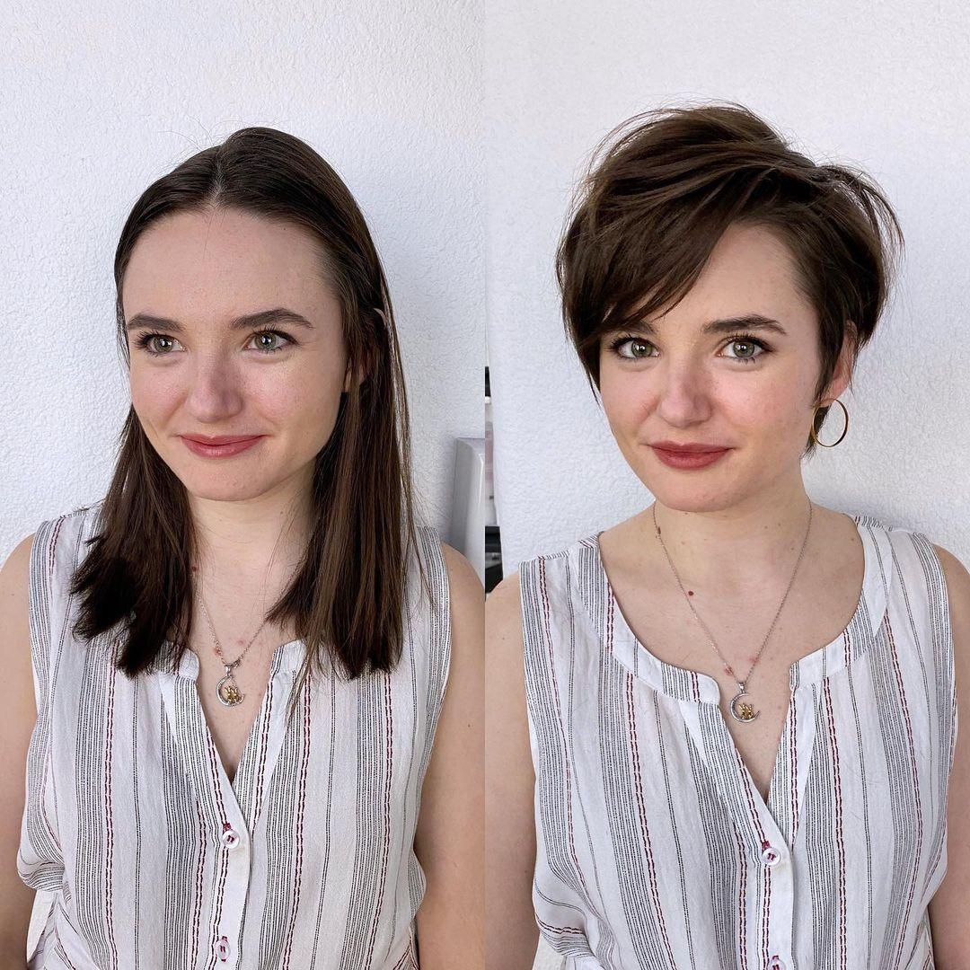 Duendecillo largo en cabello castaño natural