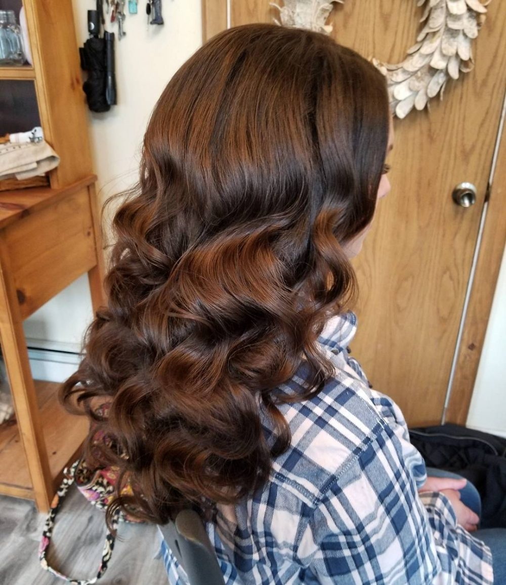 Long Retro Waves hairstyle