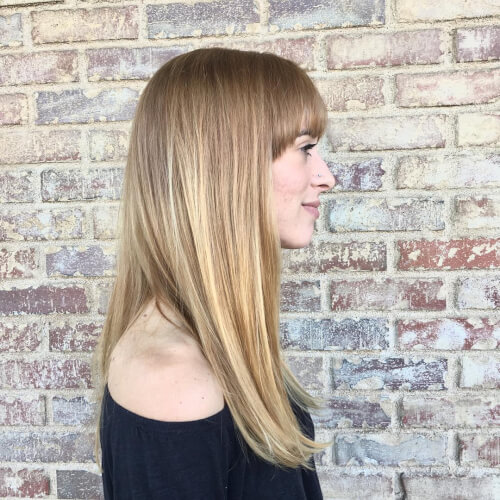 long sleek-bangs cute hair