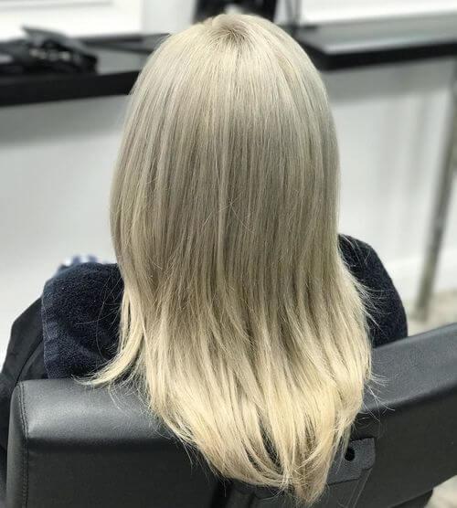 long straight blonde hair
