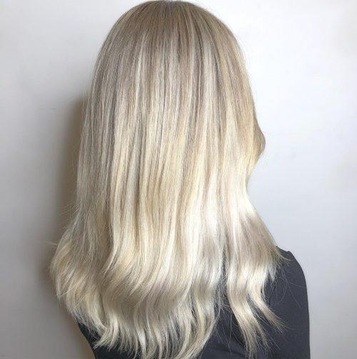Long white gold blonde hair